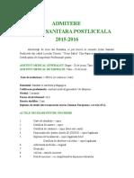 ADMITERE SCOALA SANITARA POSTLICEALA 2015-2016 (1).doc