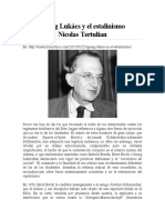 Georg Lukács y El Estalinismo Nicolas