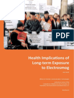 Health Implications of Long Term Exposure to Electrosmog