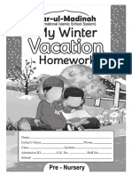 Booklet Pre Nursery Winter Vication H W