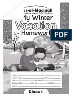 Winter Vacation Booklet Class II PK 2016 17