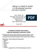 "Capacity Building in e-Health & Health Informatics in Developing Countries ""From Silos to Systems"""