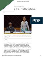 Aung San Suu Kyi's 'Buddy' Solution _ the Daily Star
