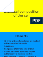Chemical Composition of the Cell