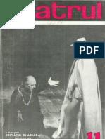 Revista Teatrul, nr. 11, anul XI, noiembrie 1966