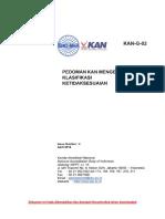 G-02 Pedoman KAN Mengenai Klasifikasi Ketidaksesuaian (in)