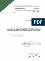 Proiect de hotărâre privind declararea vacanței mandatului de deputat deținut de Vlad Filat