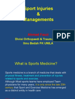 Sport Injuries and Managements