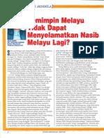 Pemimpin Melayu Tidak Dapat Menyelamatkan Nasib Melayu Lagi?
