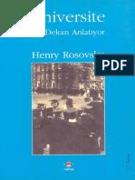 Henry Rosovsky - Üniversite