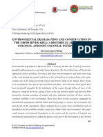 Environmental Degradation and Conservation in the Cross River Area- A Historical Appraisal of Colonial and Post Colonial Interventions