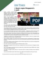 Business Times Activist Backer Quarz Urges Singapore's Metro to Return Cash 4 Oct 2016 (1)