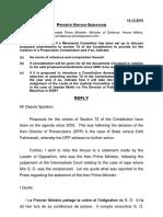 Réponse de SAJ à la PNQ de Paul Bérenger - 14.12.16