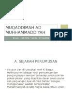 Muqaddimah ad muhhammaddiyah. DATA DERMA MUH.pptx