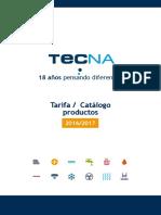 Tarifa TECNA 2016 Completa