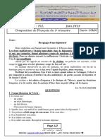 Examen Et Corrige Francais2013 Tcl t3