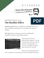 The Backfire Effect