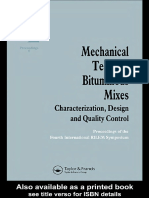 Mechanical Tests for Bituminous Mixes - Characterization Design and Quality Control