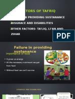 Factors of Tafriq