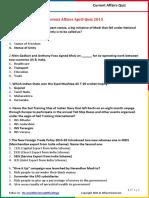 Current Affairs April Quiz 2015.pdf