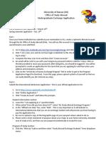 New UG Exchange Application Instructions