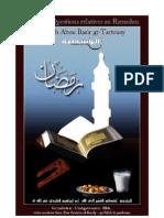 Regles Et Questions Relatives Au Ramadan