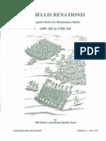 DBR De Bellis Renationis - Wargames Rules for Renaissance Battle 1494-1700 - Version 1.1 [OCR]