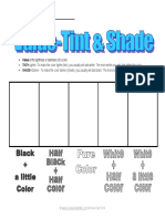 Value Tint Shade of a Color Elem