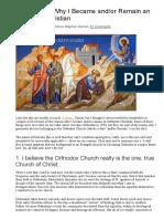 12 Reasons Why I Became Orthodox