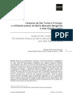 Cantares de São Tomé e Príncipe Poesia Política de Manuela Margarido e Alda Espírito Santo