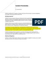 Bargaining Procedures Extracts