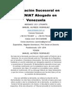 Declaración Sucesoral en El SENIAT Abogado en Venezuela