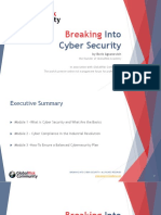Breaking Into Cyber Security