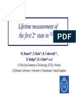 Lifetime Measurement Of