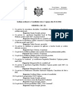 Ordinea de zi. Consiliul sătesc Cojușna, decembrie 2016