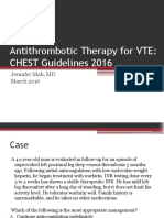 Antithrombotic Therapy for VTE