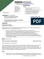 amanda bryant resume