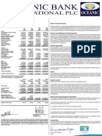 Oceanic Bank International Plc Audited Financial Statement for Period ended December 31, 2009