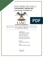 """""""EVALUACIÓN DEL ESTUDIO DE IMPACTO AMBIENTAL DEL PUENTE BY PASS - AV. TUPAC AMARU – WANCHAQ"""""""
