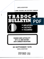 TRADOC Bulletin 1 Range and Lethality of U.S and Soviet Antiarmor Weapons