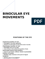 Binocular Eye Movements
