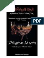 Muhammad Abdu Salam Faraj - L'Obligation Absente