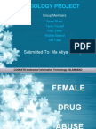 Research on female drugs abuse