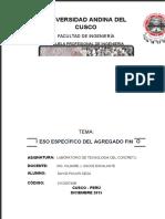 Informe de Peso Especifico -Agregado Fino