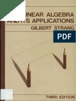 Linear Algebra and Its Applications 3e - Gilbert Strang