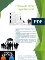 Características de Clima Organizacional