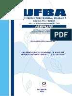 CACTERIZAÇÃO DO CONSUMO DE ÁGUA EM PRÉDIOS UNIVERSITÁRIOS