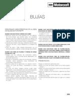 bujias motocraft calibracion