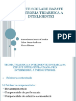 Teste Scolare Bazate Pe Teoria Triarhica a Inteligentei