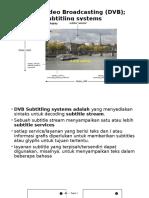 Digital Video Broadcasting (DVB)